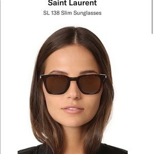 NWOT Saint Laurent SL 138 slim sunglasses in black